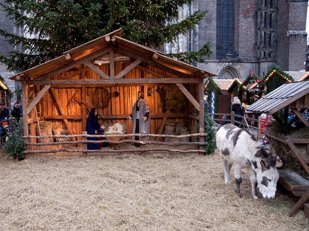 Christmas Market in Lazzate in Italy