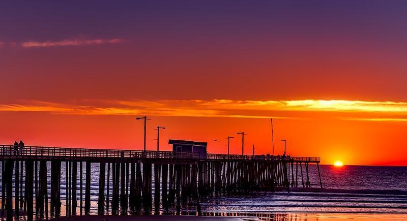Pismo Beach Sky Clouds California Colorful Sunset