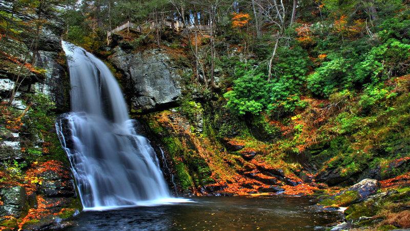 Bushkill Falls Trail Hiking