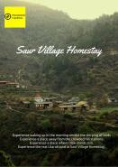 Escape To Remote Village Of Saur