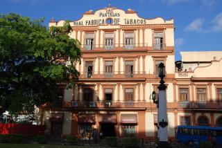 The Partagas Cigar Factory Or Fabrica De Tabaco Partagas