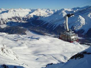 Piz Nair And Corviglia Ski Area