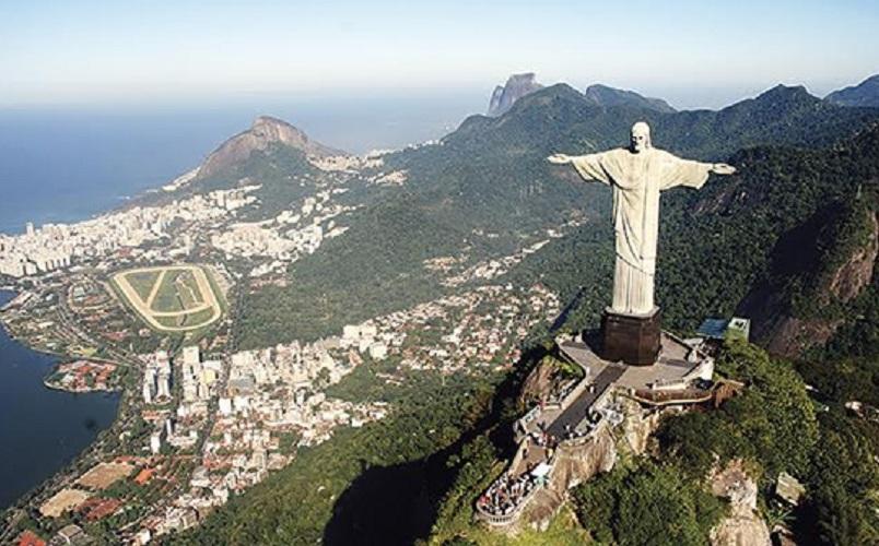 Corcovado With Christ Redeemer Statue - Rio De Janeiro