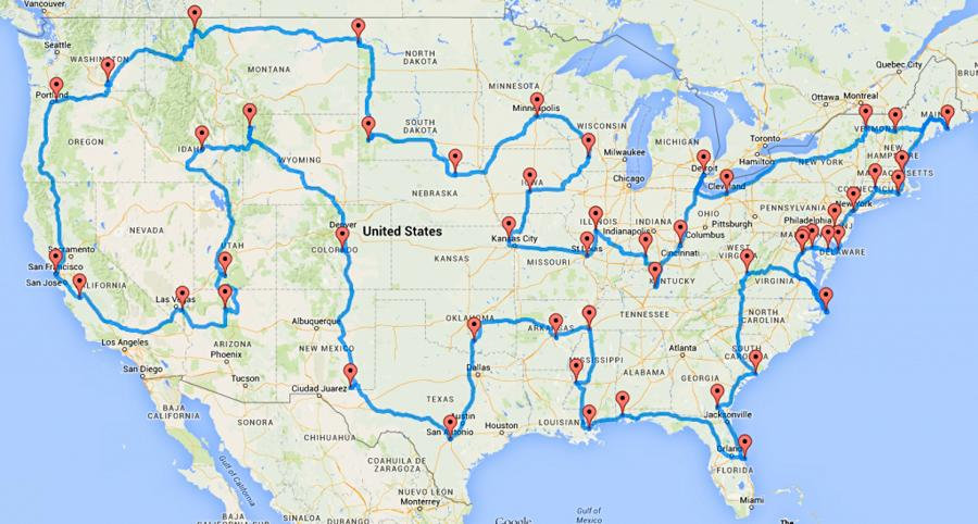Map Us Road Trip … 50 States Map Road Trip on best road trip