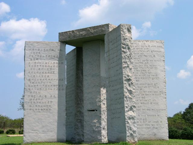 Georgia Guidestones - Mysterious Places on Earth