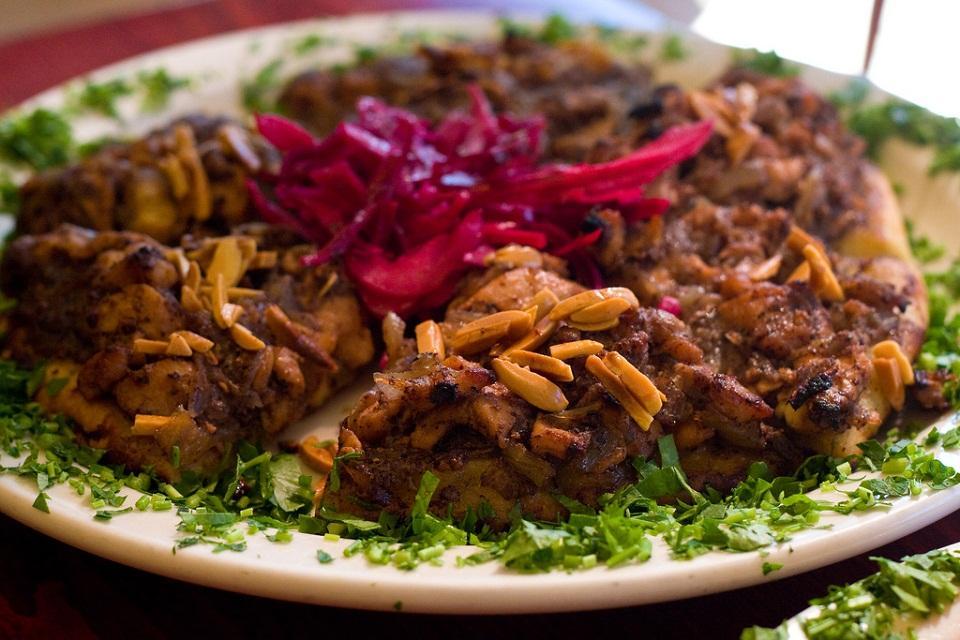 Chicken Pine nuts Pizza in Palestine