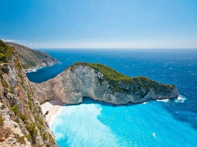 Zakynthos, Greece for a quiet honeymoon