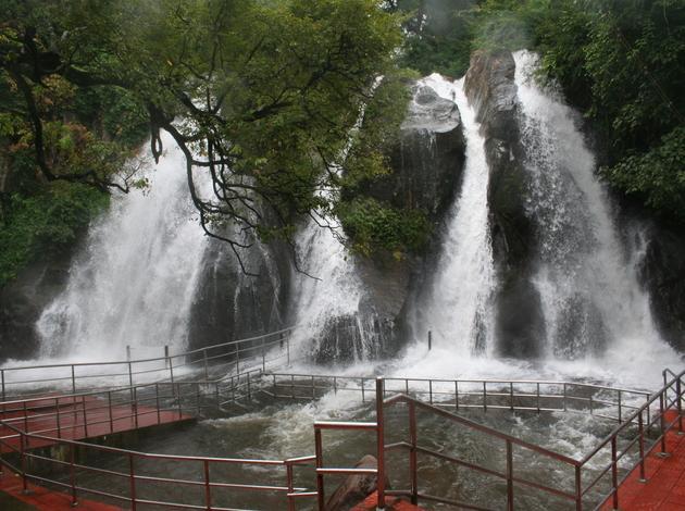 Five Falls - most famous waterfall in Tamilnadu
