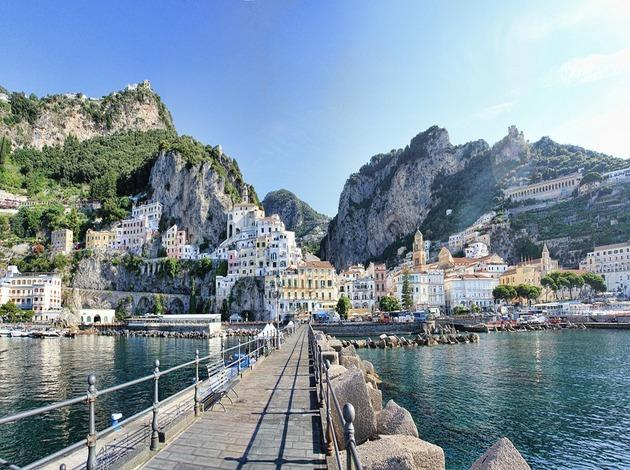 Amalfi, Italy a small town in europe