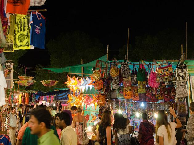 night markets in Goa