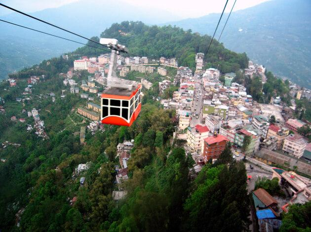 Gangtok - place to visit in India under 10000
