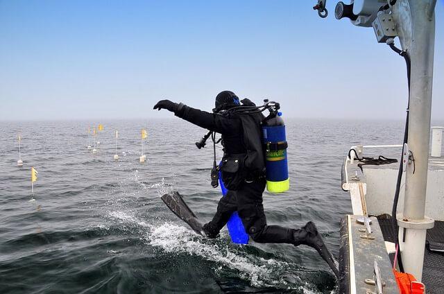 scuba diver in Lakshadweep