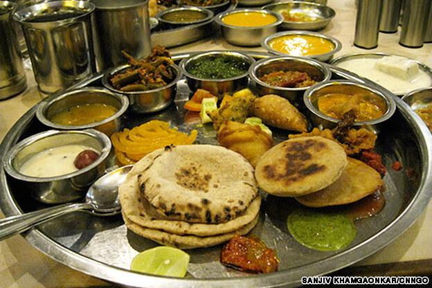 Gujarati Food Recipe Full Thali