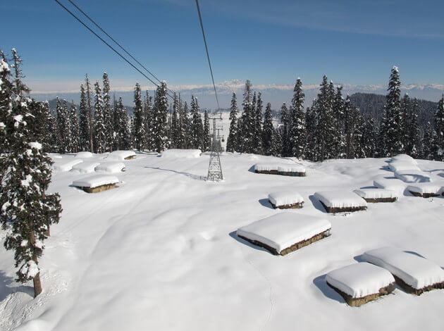 Gulmarg - hill stations in India with Snowfall