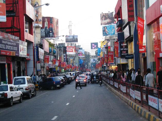 Brigade road for budget shopping