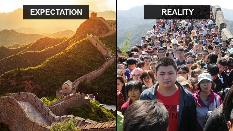 Travel Expectations Vs Reality TripHobo - 20 photos that sum up your travel expectations vs reality