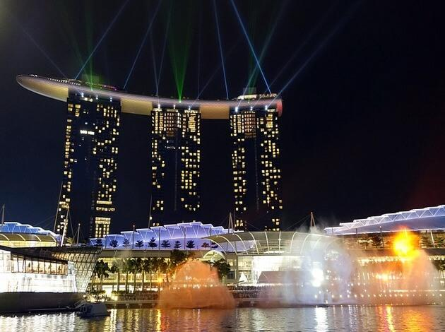 Marina Bay Sands Light And Water Show Best Places In Singapore