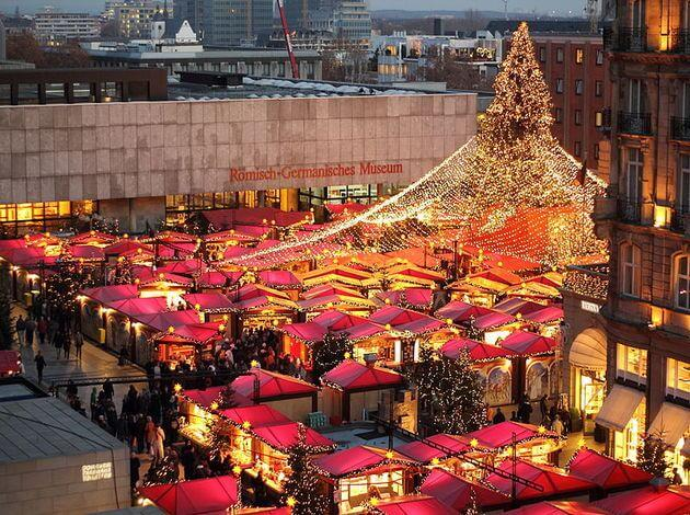 Cathedral christmas market in Germany