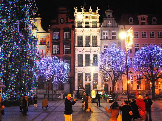 Gdansk - new year celebration in europe