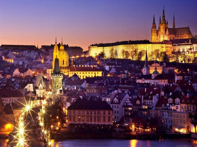 New year celebrations in Prague Europe 2019