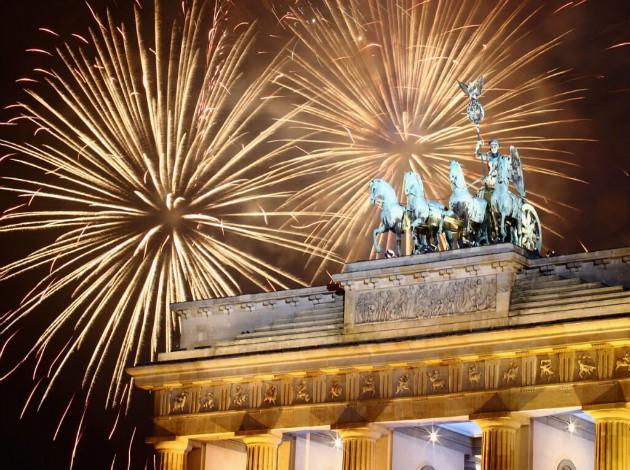 Berlin - New year firework in Europe 2019