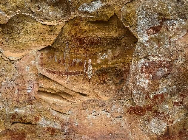 Paintings at Pedra Furada Sites