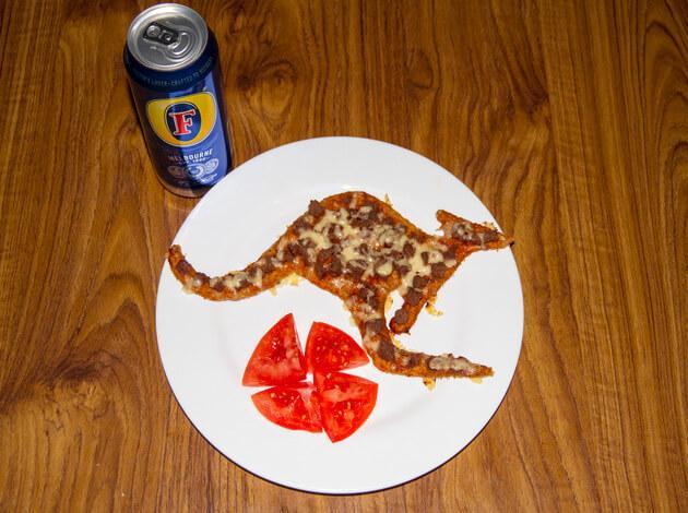 Kangaroo Pizza in Australia