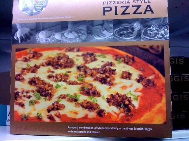 Haggis Pizza in United Kingdom