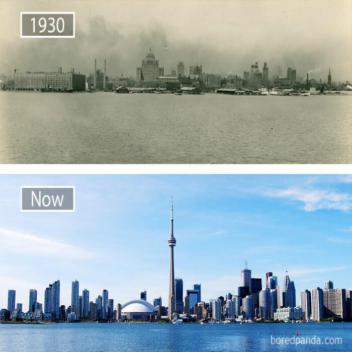 Timelapse Evolution Before And After Of Famous Cities