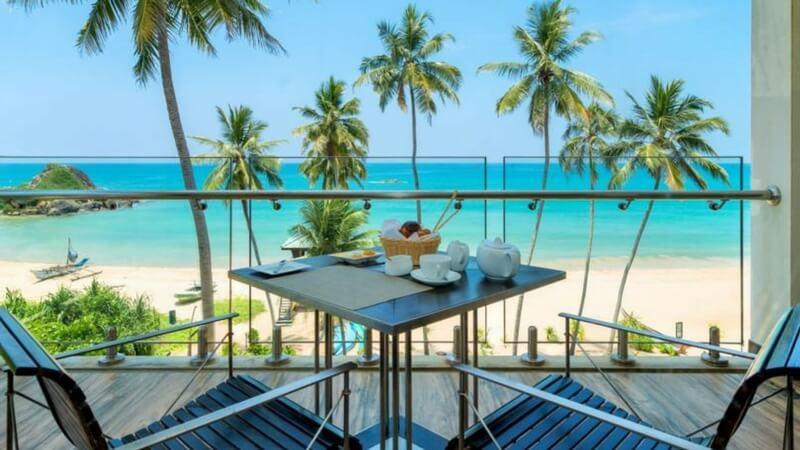 luxury beach resort in Sri Lanka