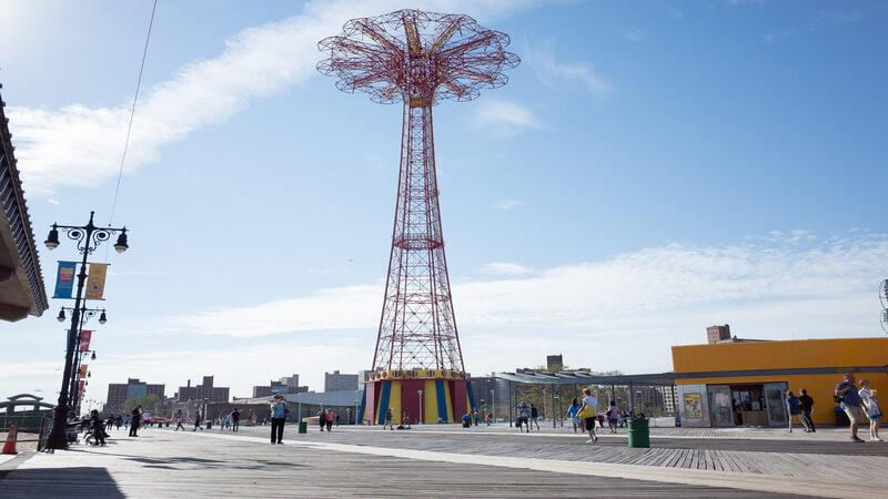Coney Island - just a small train journey away