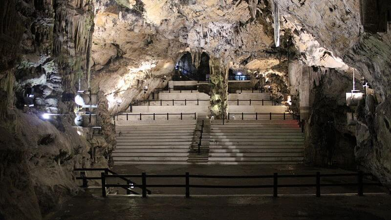 an auditorium in a cave