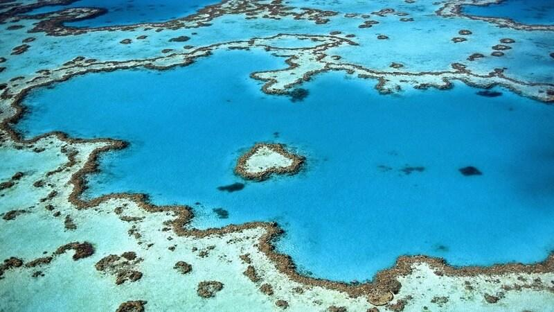 Heart Reef - for a secluded romantic holiday in australia