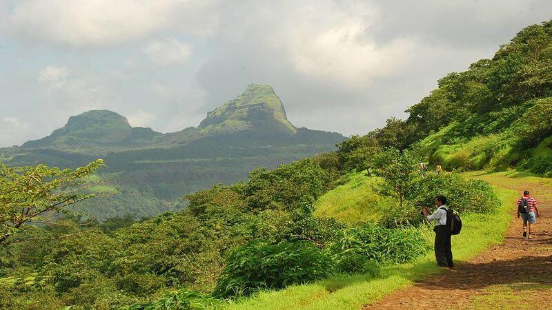 the trekking path for Rajmachi fort
