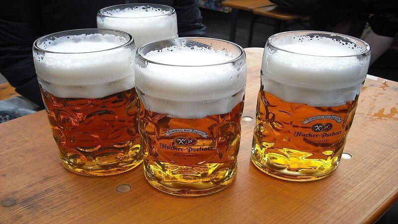 beer served at the Oktoberfest