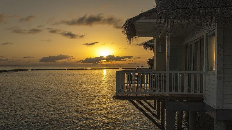 overwater villas in Samoa Islands