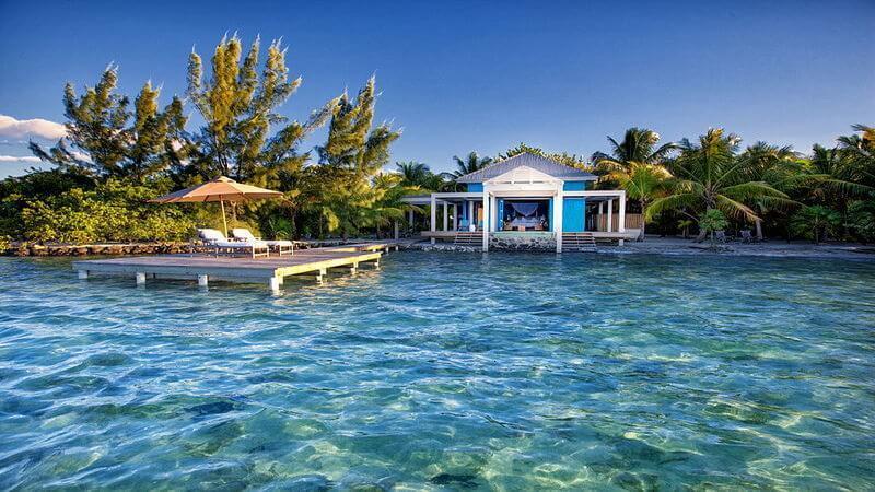 overwater bungalow resort in Belize