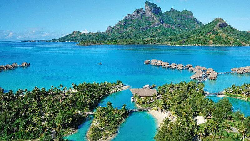overwater bungalows, for seasons resort in Bora Bora