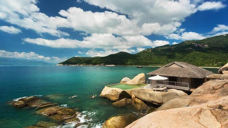 creatively designed overwater villa in Vietnam