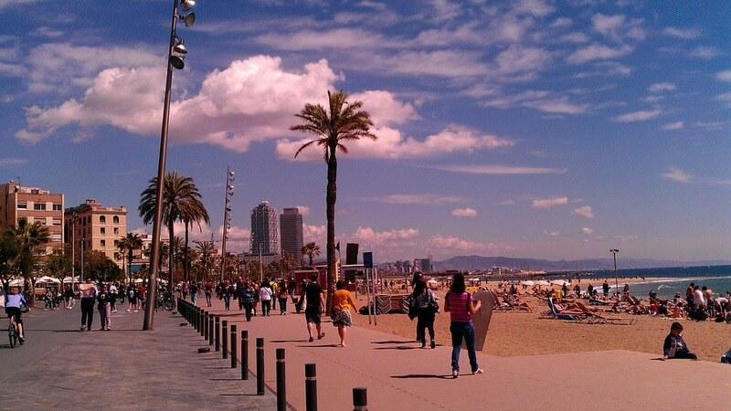 Barceloneta - most crowded beach in barcelona