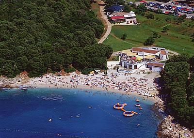 Pebbled Beach Of Ambrela Image