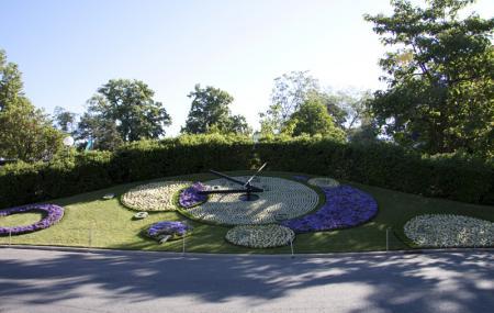 Geneva Flower Clock Or Horloge Fleurie Image