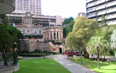 Anzac Square And Shrine Of Remembrance Image