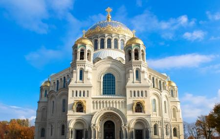 The Naval Cathedral Of Saint Nicholas In Kronstadt Image