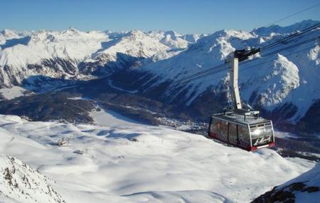 Piz Nair And Corviglia Ski Area Image