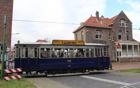 Electric Tram Line Museum In Amsterdam Image