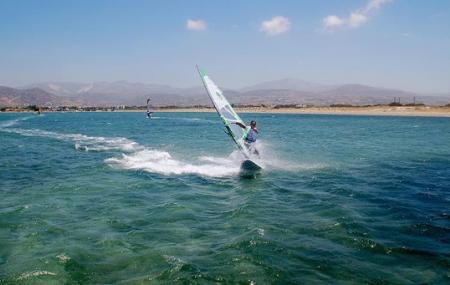 Windsurfing In Agios Georgios Image