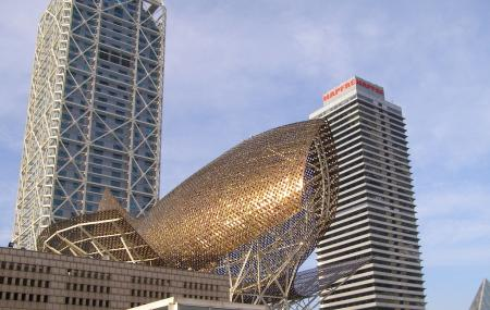 Frank Gehry's Golden Fish Sculpture Image