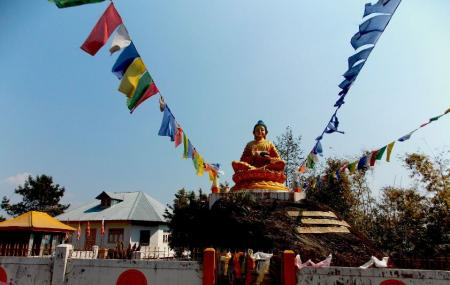 Lord Buddha Statue And Park Image