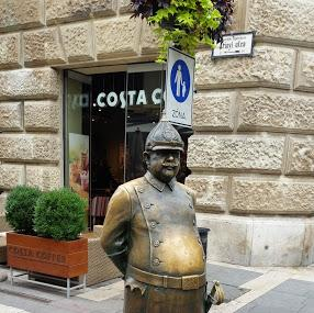 The Fat Policeman Statue Image